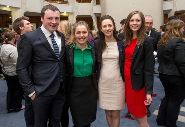 Pictured at the WIP 2015 launch ceremony are :(l to r) Jamie Moore (WIP 2013), Valerie O'Brien, Meadhbh Roche (WIP 2015) & Olivia MacDonald (WIP 2014)