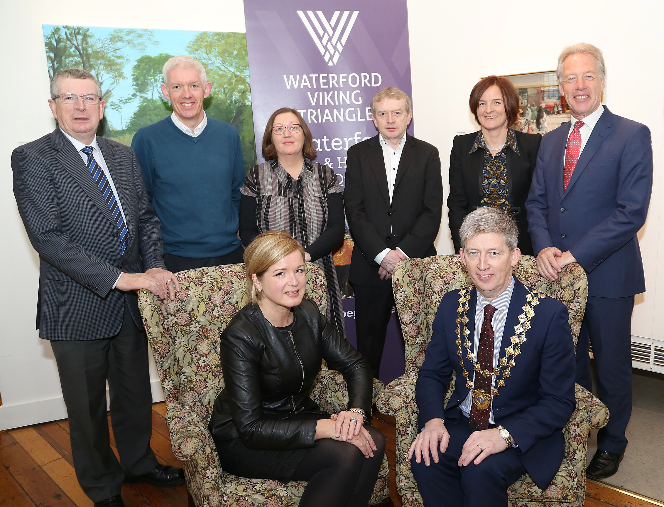 Pictured from eft are Ray Cullen (WIT), Richard Hayes (WIT), Lynn Cahill, Bill Duggan (Waterford City & CountyCouncil), Anne Marie Lally (WIT), Nick Donnelly (Waterford Chamber CEO),  Front Fiona McHardy (WVT) & Micheal O'Dwyer Chamber President