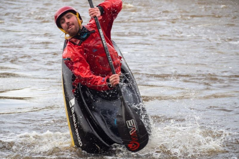 David McClure on his way to freestyle gold at inter-varsities