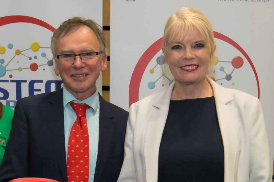 Caption: Pictured at the Ireland 2040 Waterford launch in March 2018 are from left Prof Willie Donnelly, WIT President and the Minister of State for Higher Education Mary Mitchell O'Connor T.D.