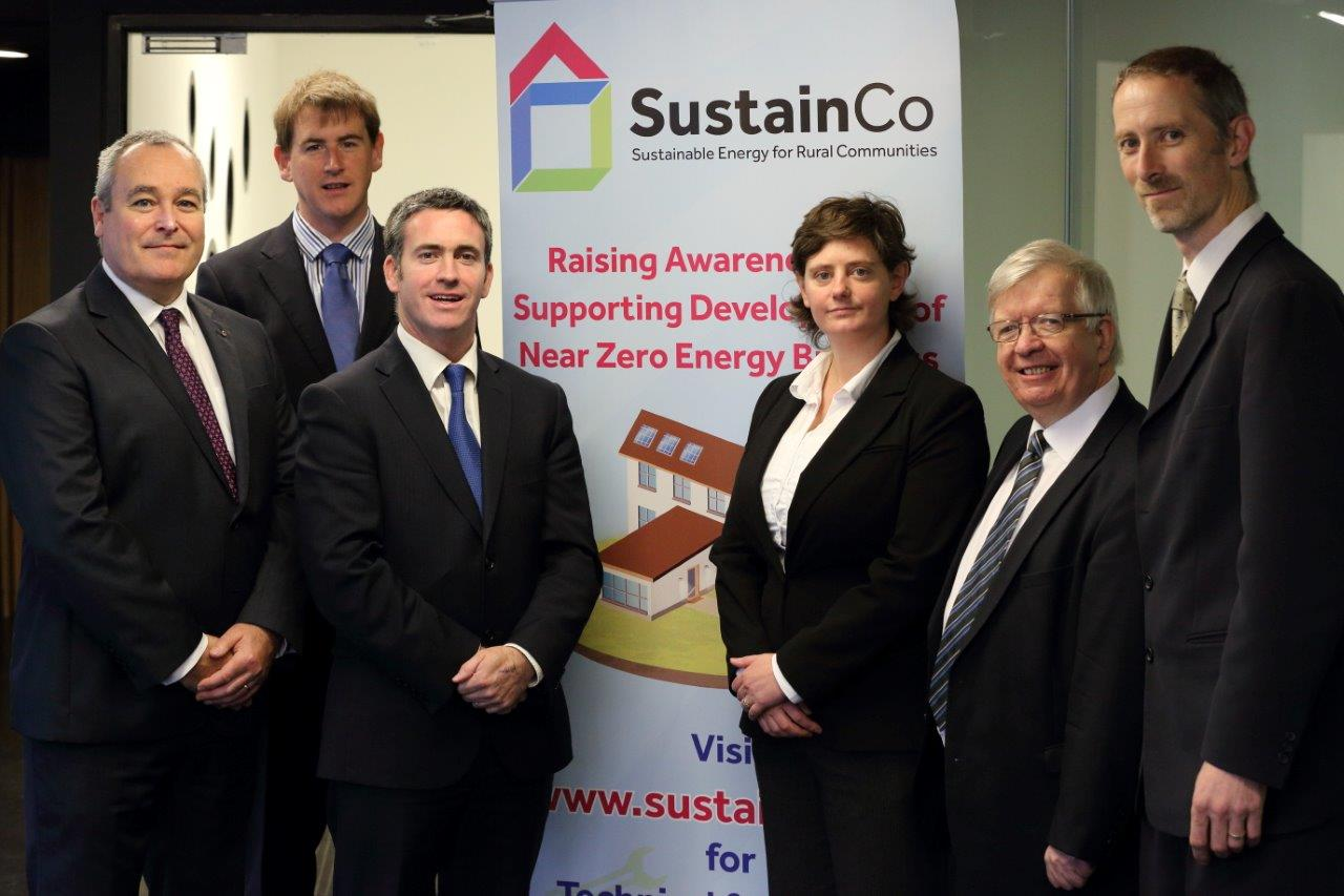 Alexandra pictured with colleagues and former Minister for Skills, Research and Innovation Damien English at an EU conference and training workshop on nearly zero energy buildings (NZEB) standards and practices