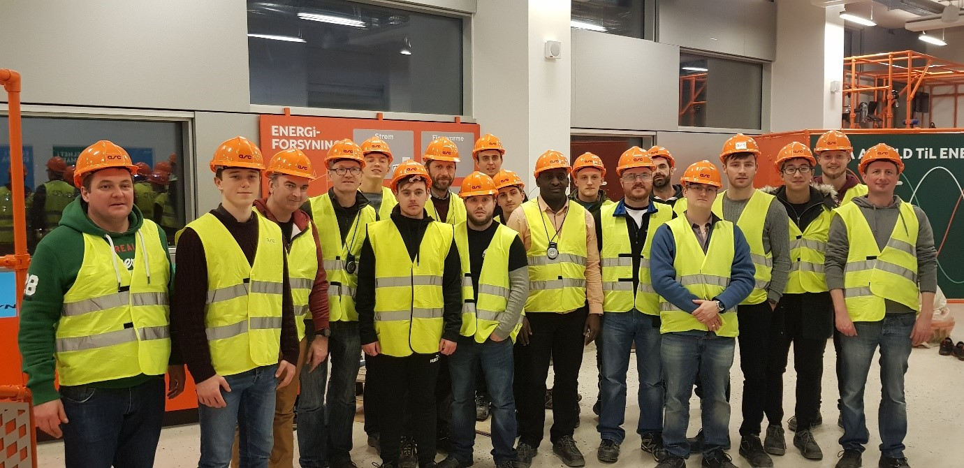 Students from Electrical, Electronic, Sustainable Energy & Building Services Engineering recently in Copenhagen.