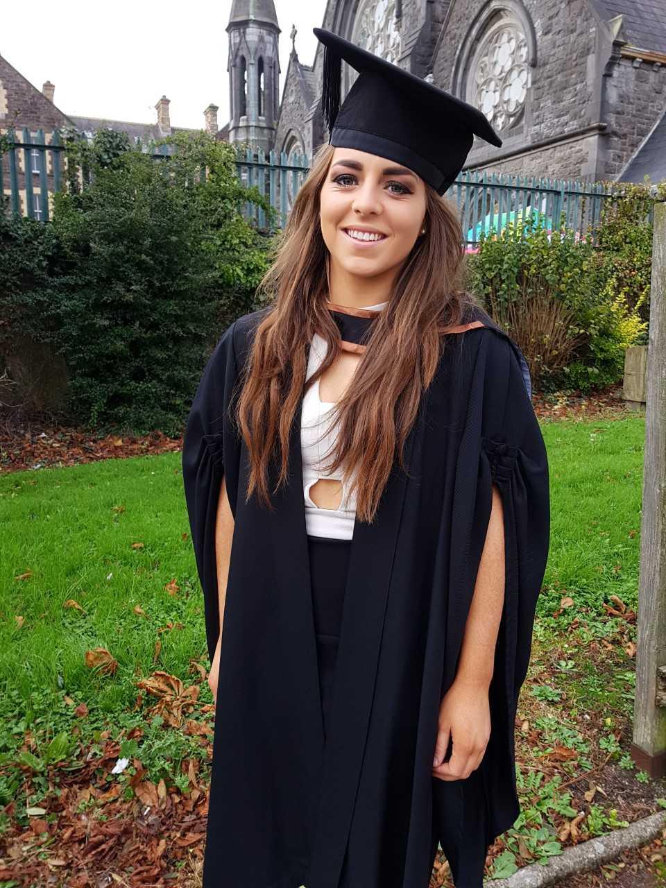 Meighan Farrell graduating 2017