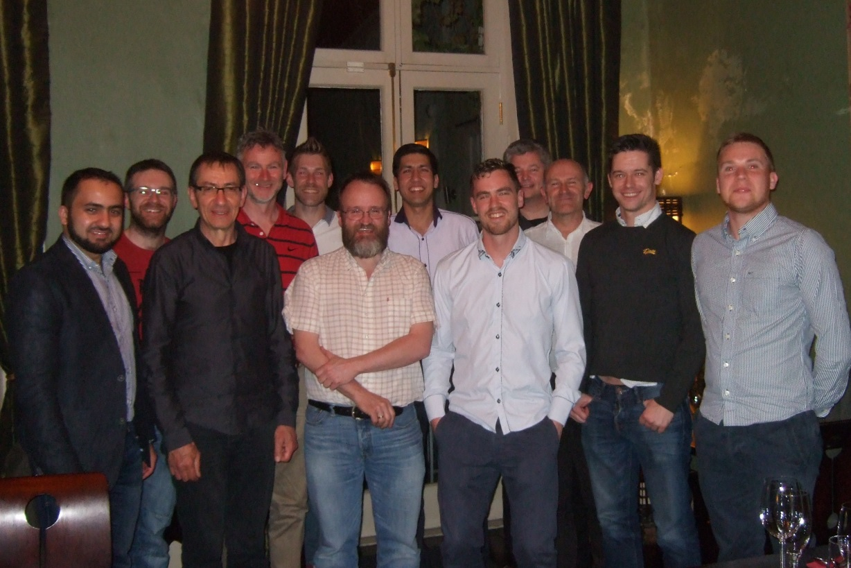 WIT Electronic Engineering graduates and lecturers: Toqeer Akhtar, Gregory Kuhn, Mohamad Medjaou, John Manning, Frank Roche, Martin Hayes, Naveen Dhull, James Gahan, Michael McCarthy, P.J. Cregg, Dean Moorehouse, Des Ferguson