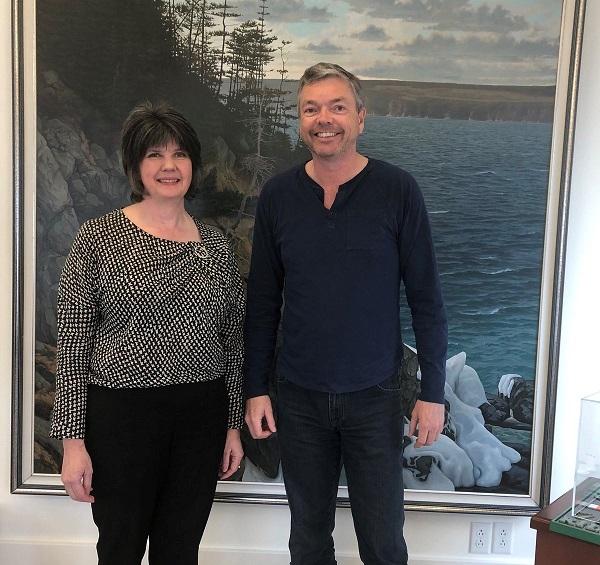 Left to Right: Dr Felicity Kelliher (WIT) and Mr Mark Dobbin, Dobbin Atlantic Scholarship