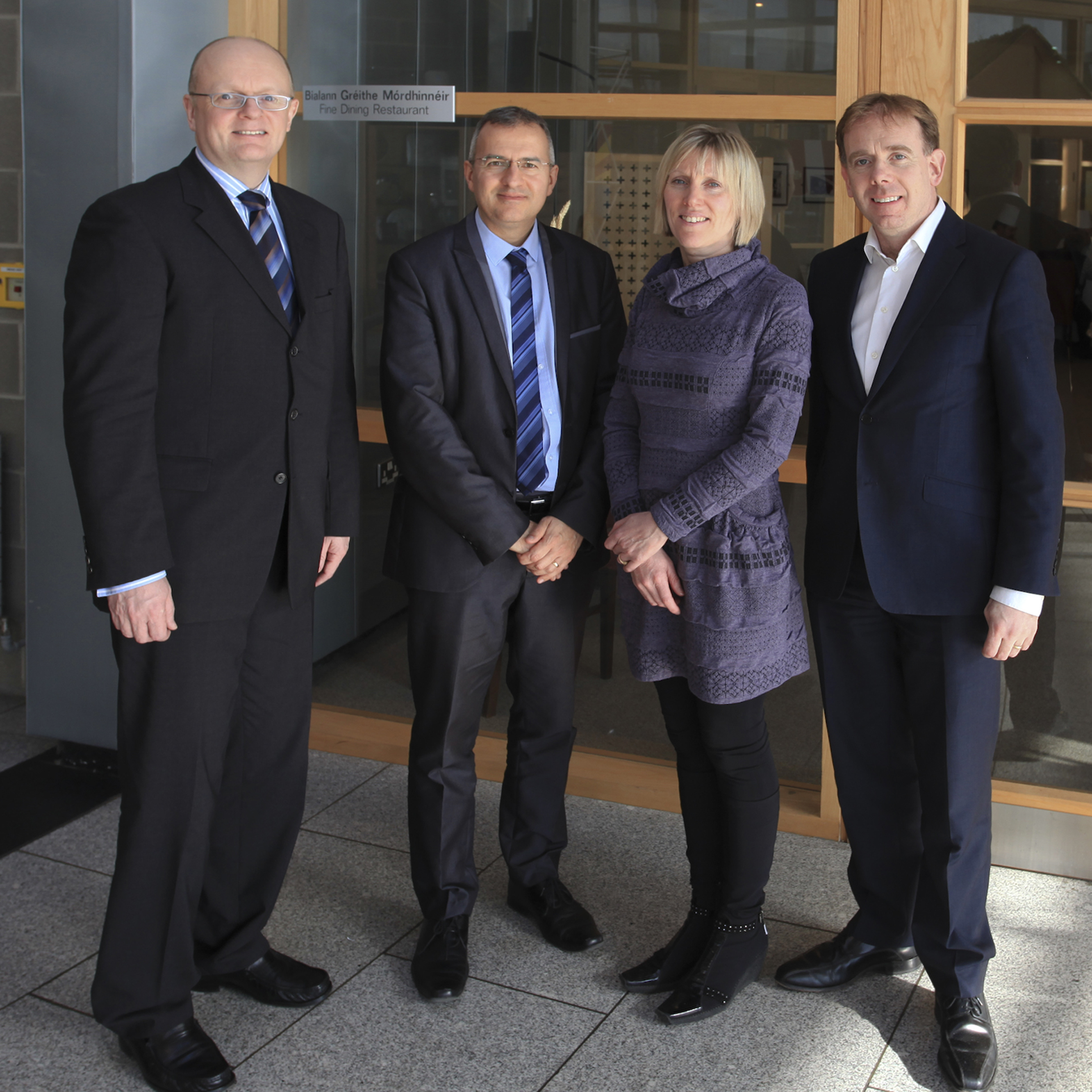 From left: Dr Tom O'Toole, Stéphane Aymard (French Embassy), Sinead Day, Don O'Neill