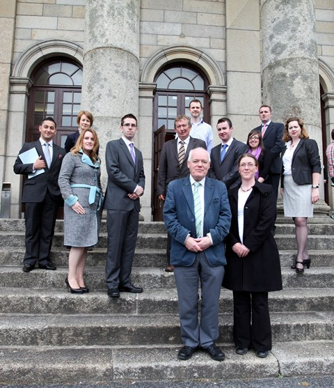 Some of the students, solicitors and lecturers involved in the WIT / Law Society Work Shadowing Programme