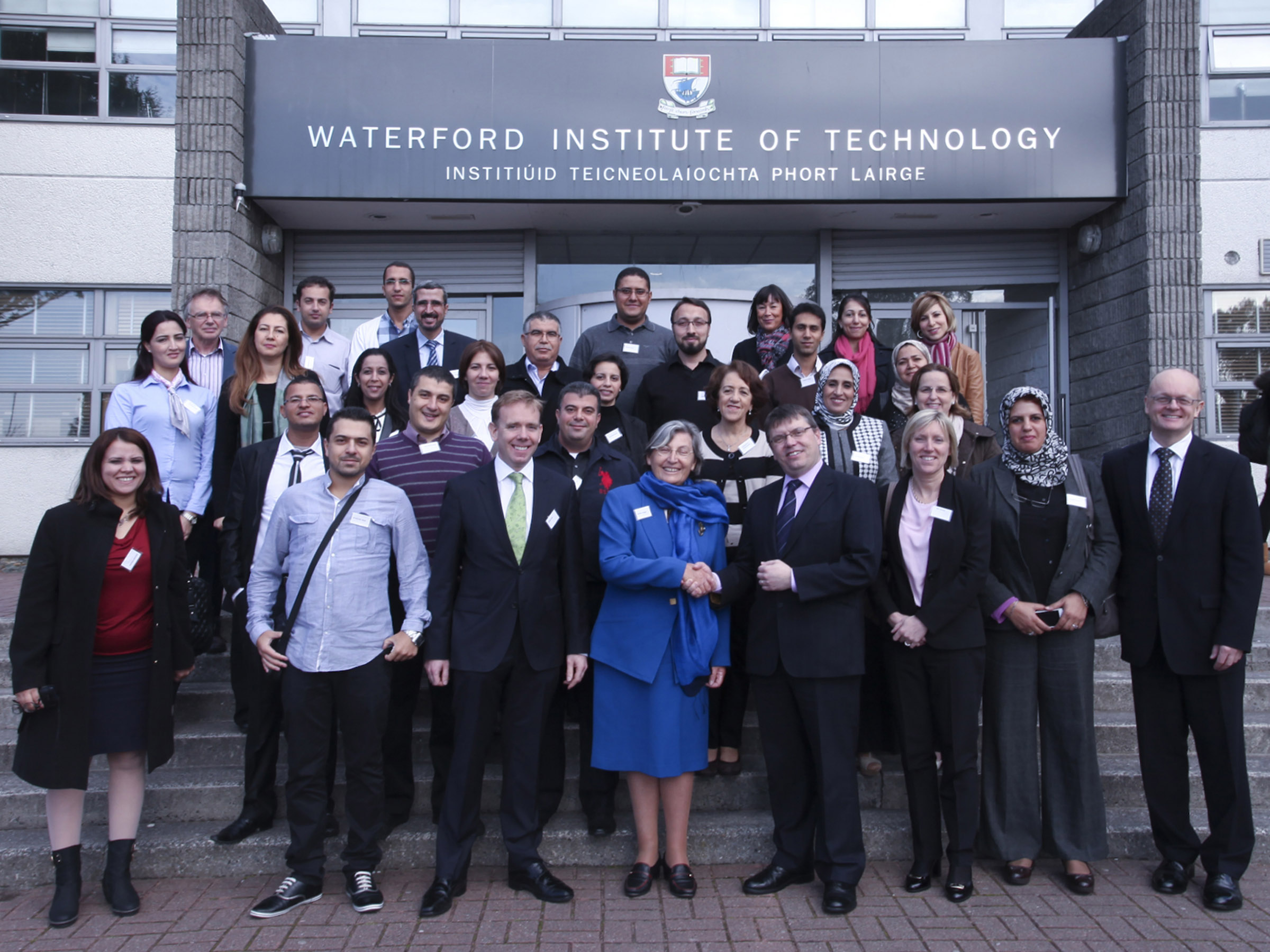 Dr Ruaidhrí Neavyn,Dr Maggy Pezeril,along with staff from Algerian, Moroccan and Tunisian universities.Don O'Neill,Sinead Day,Dr Tom O'Toole and Prof Willie Donnelly