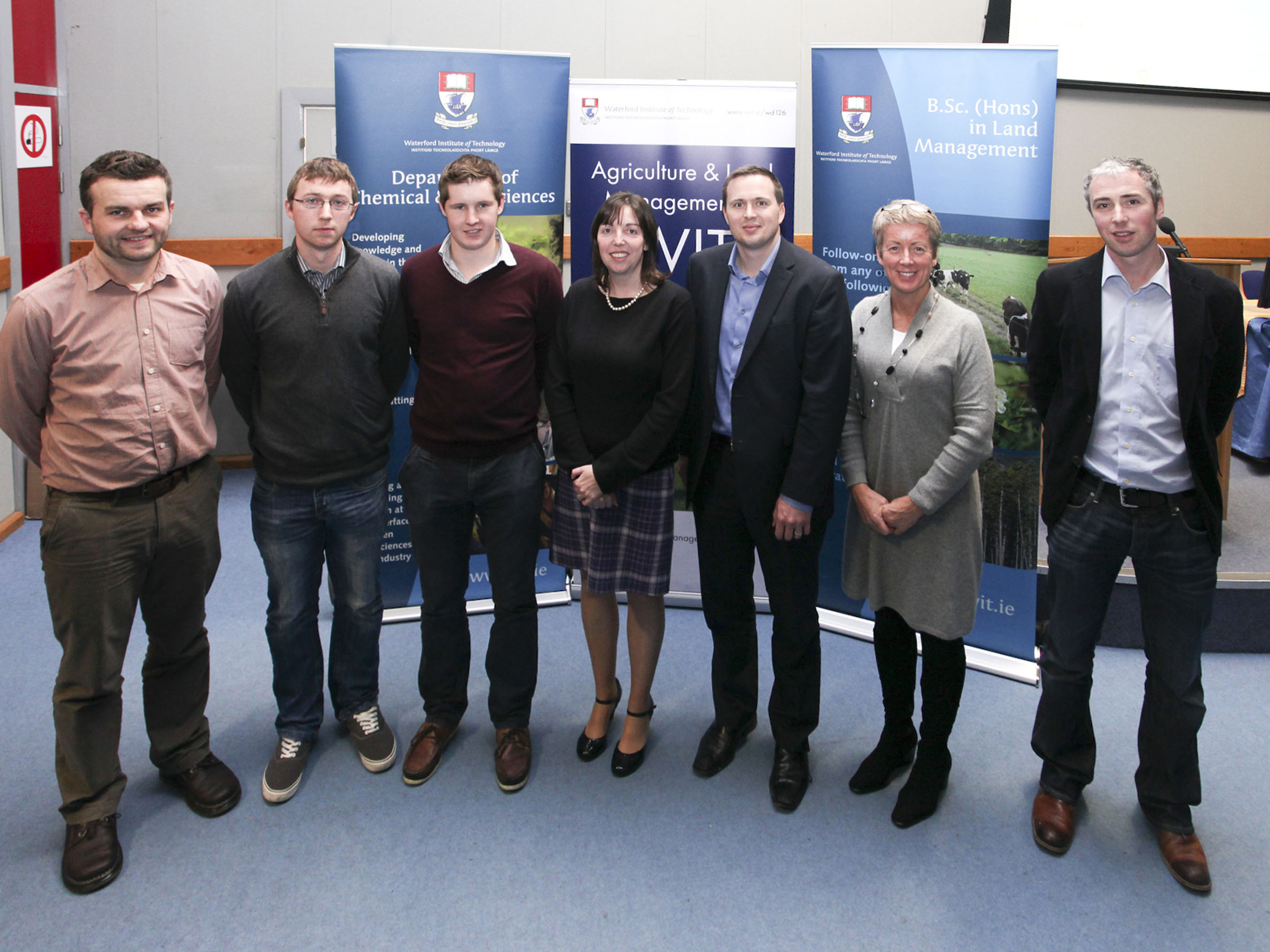 Dr Michael Breen, Eanna Galvin, James Cunningham, Dr Anne Marie Butler, Rob O'Keeffe, Angela Collins and Dr Tony Woodcock