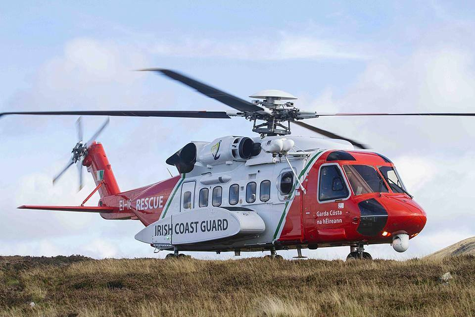 Captain Mark McDermott is the chief training pilot for the Waterford based Irish Coast Guard Helicopter. Picture Rescue 117 facbook page