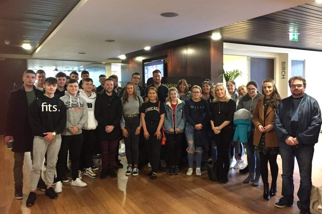 Pictured in Salesforce, Dublin are BBS (Hons) Marketing and BA (Hons) in Marketing & Digital Media students