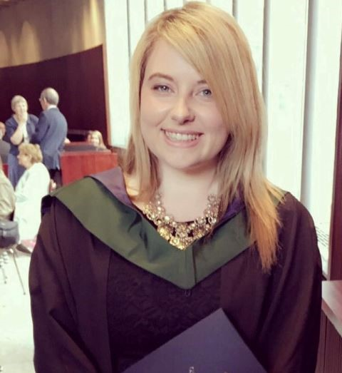 Orla O'Connell, BA (Hons) in Tourism Marketing 2016.