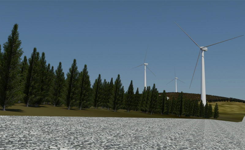 3D Max Render on proposed Ecopower Windfarm