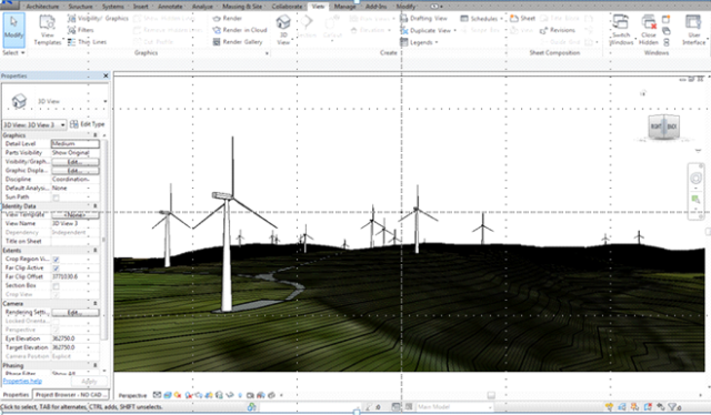 Revit model of Ecopower Proposed windfarm