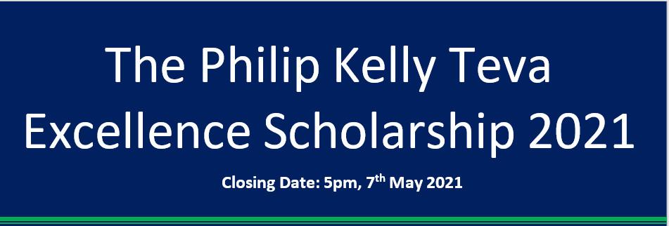 Philip Kelly TEVA Excellence Scholarship 2021
